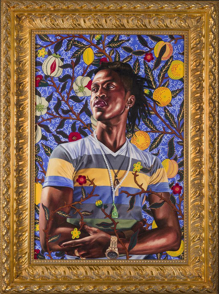 "Kehinde Wiley, ""Portrait of Toks Adewetan (The King of Glory)"""