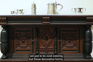 Screenshot of a Court Cupboard, the subject of a Smart History video.