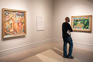 """Visitor in """"The Dance on the Volcano: German Expressionism at the Wadsworth"""""""