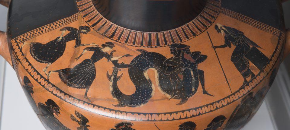 Detail of Water jar (hydria) (detail), c. 525-510 BCE