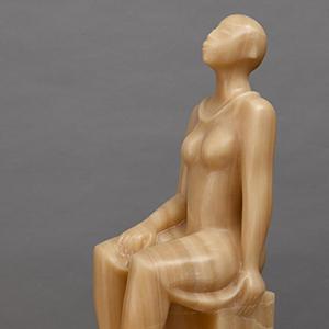 Elizabeth Catlett, Seated Woman, detail
