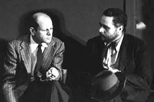 Jackson Pollock and Tony Smith at the Betty Parsons Gallery, New York