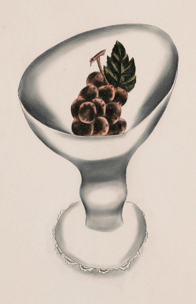 Yasuo Kuniyoshi Grapes in White Bowl