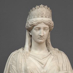 """Detail of Harriet Hosmer, """"Zenobia in Chains"""""""