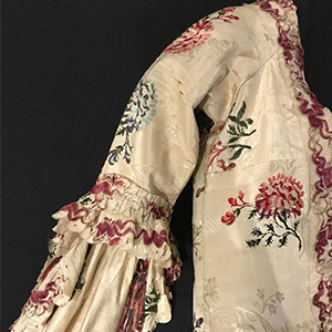 Detail of an 18th century wedding ensemble